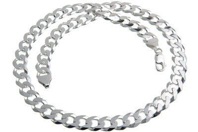 925 Silver Cuban Link Chain 10.0 MM