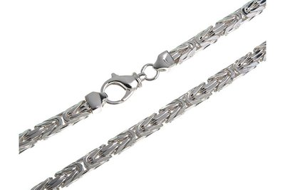 925 Silver Byzantine Chain Square 10.0 MM
