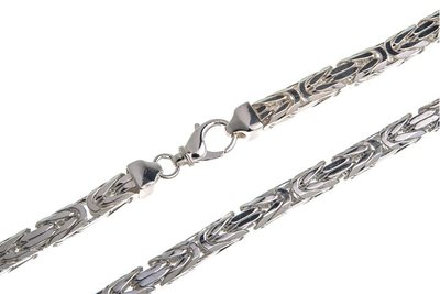 925 Silver Byzantine Chain Square 8.0 MM