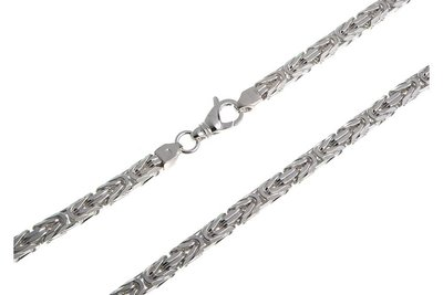 925 Silver Byzantine Chain Square 6.0 MM