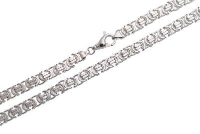 925 Silver Byzantine Chain Flat 6.0 MM