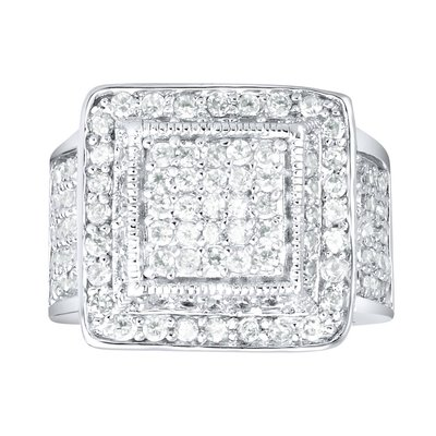 925 Silver Iced Out Ring - King Bling