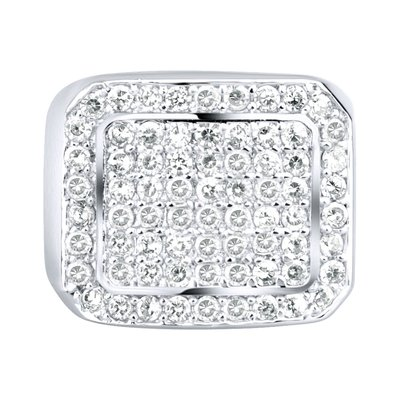 925 Silver Iced Out Ring - Bling