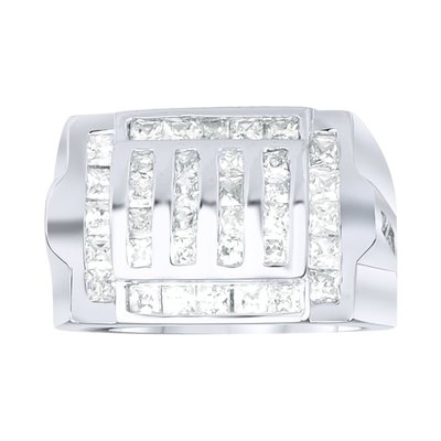 925 Silver Iced Out Ring - Grill