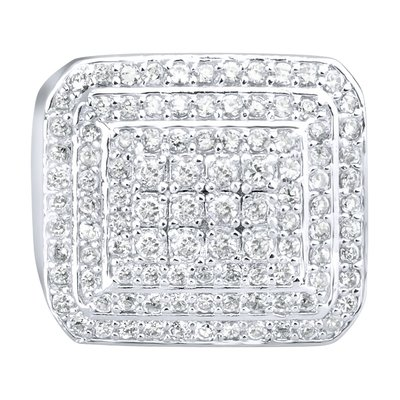 925 Silver Iced Out Ring - Dome