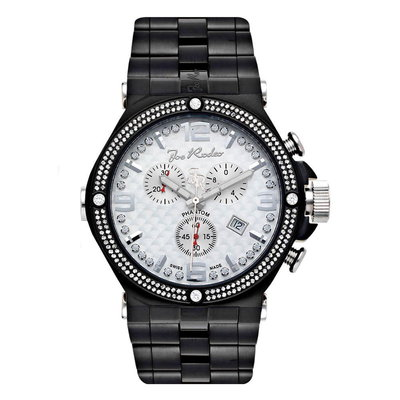 Joe Rodeo Diamanten Horloge - Phantom Zwart 2.25 ct