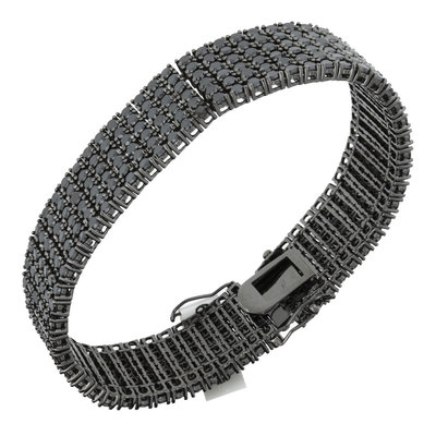 925 Zilveren Iced Out Armband - 6 rijen