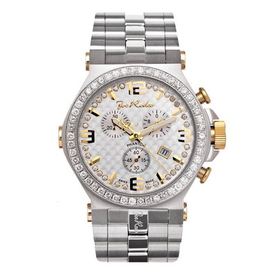 Joe Rodeo Diamanten Horloge - Phantom Zilver 3.25 ct
