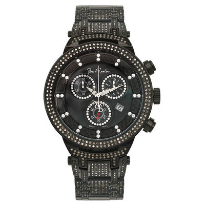 Joe Rodeo Diamanten Horloge - Master Zwart 4.75 ct