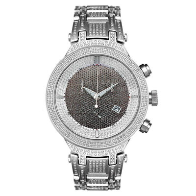 Joe Rodeo Diamanten Horloge - Master Zilver 4.75 ct