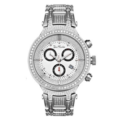 Joe Rodeo Diamanten Horloge - Master Zilver 5.2 ct