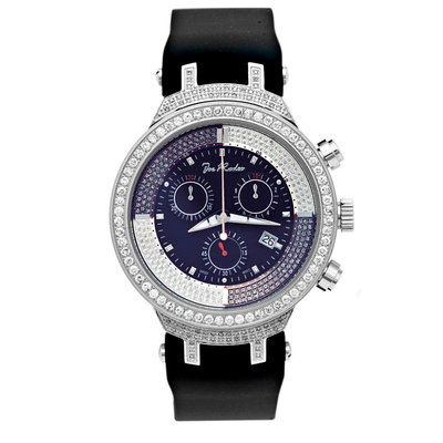 Joe Rodeo Diamanten Horloge - Master Zilver 2.65 ct