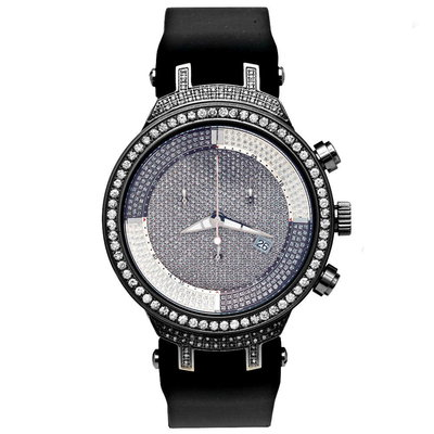 Joe Rodeo Diamanten Horloge - Master Zwart 2.65 ct