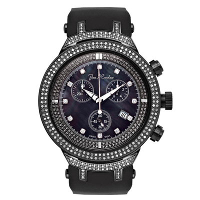 Joe Rodeo Diamanten Horloge - Master Zwart 2.2 ct
