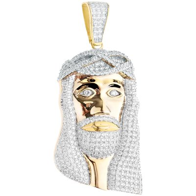925 ZILVEREN ICED OUT JESUS HANGER
