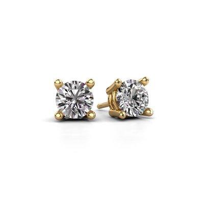 18K (750) Gouden Diamanten Oorstekers 0.50 crt