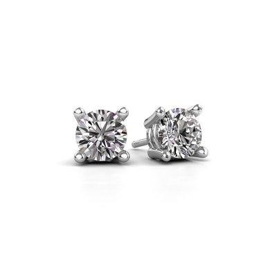 18K (750) Witgouden Diamanten Oorstekers 0.50 crt