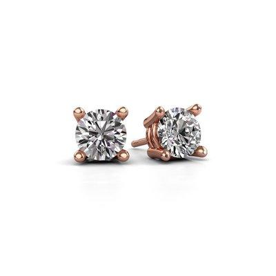 18K (750) Rosé Gouden Diamanten Oorstekers 0.50 crt