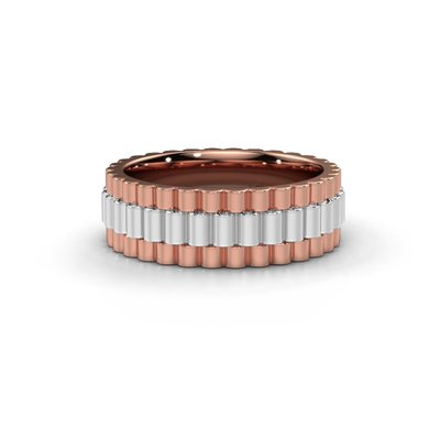 18K (750) Rosegold Rolex Style Ring
