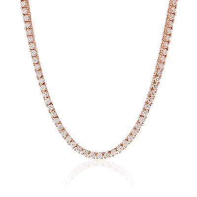 925 Zilveren Tennis Chain Rosé