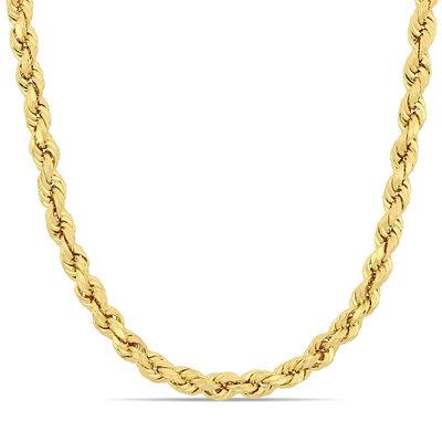 18K Gouden Rope Chain (diamant geslepen)