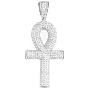 925 ZILVEREN ICED OUT ANKH KRUIS