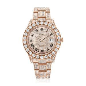 Rolex DateJust II 18K Rose Gold Diamond Watch