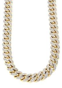 Custom Diamanten Miami Cuban Link Ketting 10-20MM