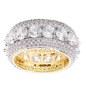 925 Zilveren Iced Out Ring GD - Charles