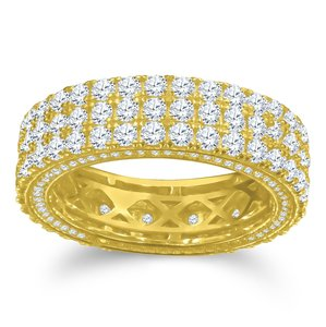 925 Zilveren Iced Out Ring GD - Matrix