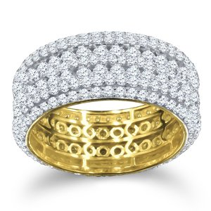 925 Zilveren Iced Out Ring GD - BIG