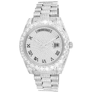 CLOXSTAR Stainless Steel Full Iced Out Watch R SLV