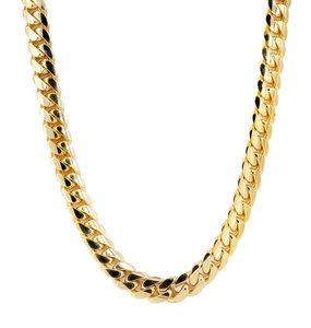 Massieve 14K Gouden Miami Cuban Link ketting 10MM