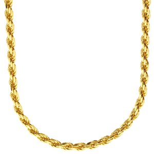 925 Zilveren Rope Chain 4 MM