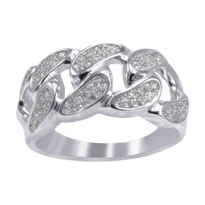 925 Zilveren Iced Out Ring - CUBAN