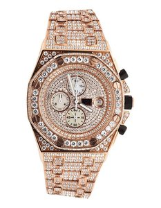 CLOXSTAR MOB Stainless Steel Iced Out Presidential Watch RGD