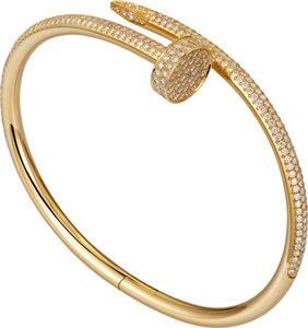 925 Zilveren Iced Out Cartier Stijl Juste un Clou Armband