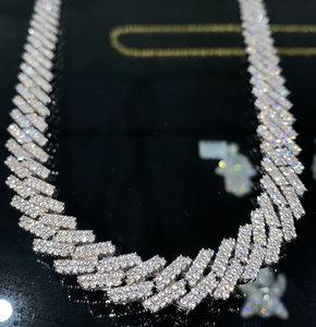 925 Zilveren Cloxstar Iced Out Miami Cuban Link Chain 14 MM
