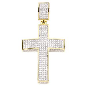 925 Zilveren Iced Out Kruis Hanger - GD