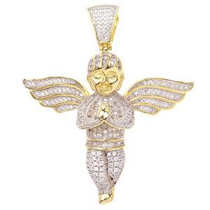 925 Zilveren Iced Out Mini Engel Hanger - GD