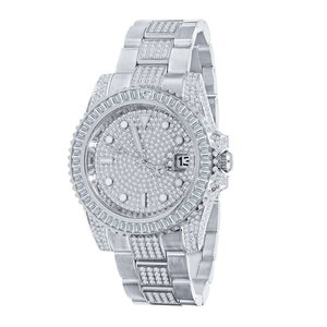 CLOXSTAR Stainless Steel Full Iced Out Watch BMM SLV
