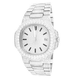 CLOXSTAR MOB Stainless Steel Solitaire Bezel Luxury Watch