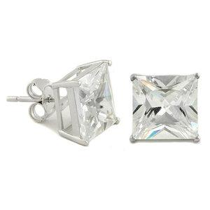 925 Zilveren Oorbellen - Vierkant
