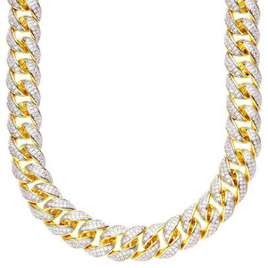Iced Out Miami Cuban Link Chain 15 MM