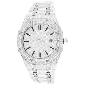 CLOXSTAR Stainless Steel Full Iced Out Watch SLV