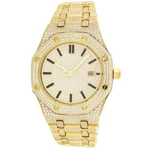 CLOXSTAR Stainless Steel Full Iced Out Watch GLD