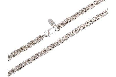 925 Silver Byzantine Chain Square 3 5 MM