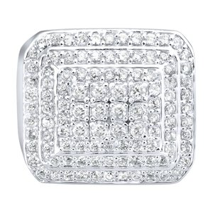 925 Zilveren Iced Out Ring - Dome