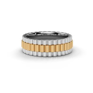 18K (750) Gouden Rolex Stijl Ring