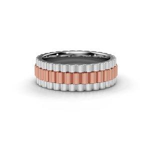 18K (750) Rosé Gouden Rolex Stijl Ring